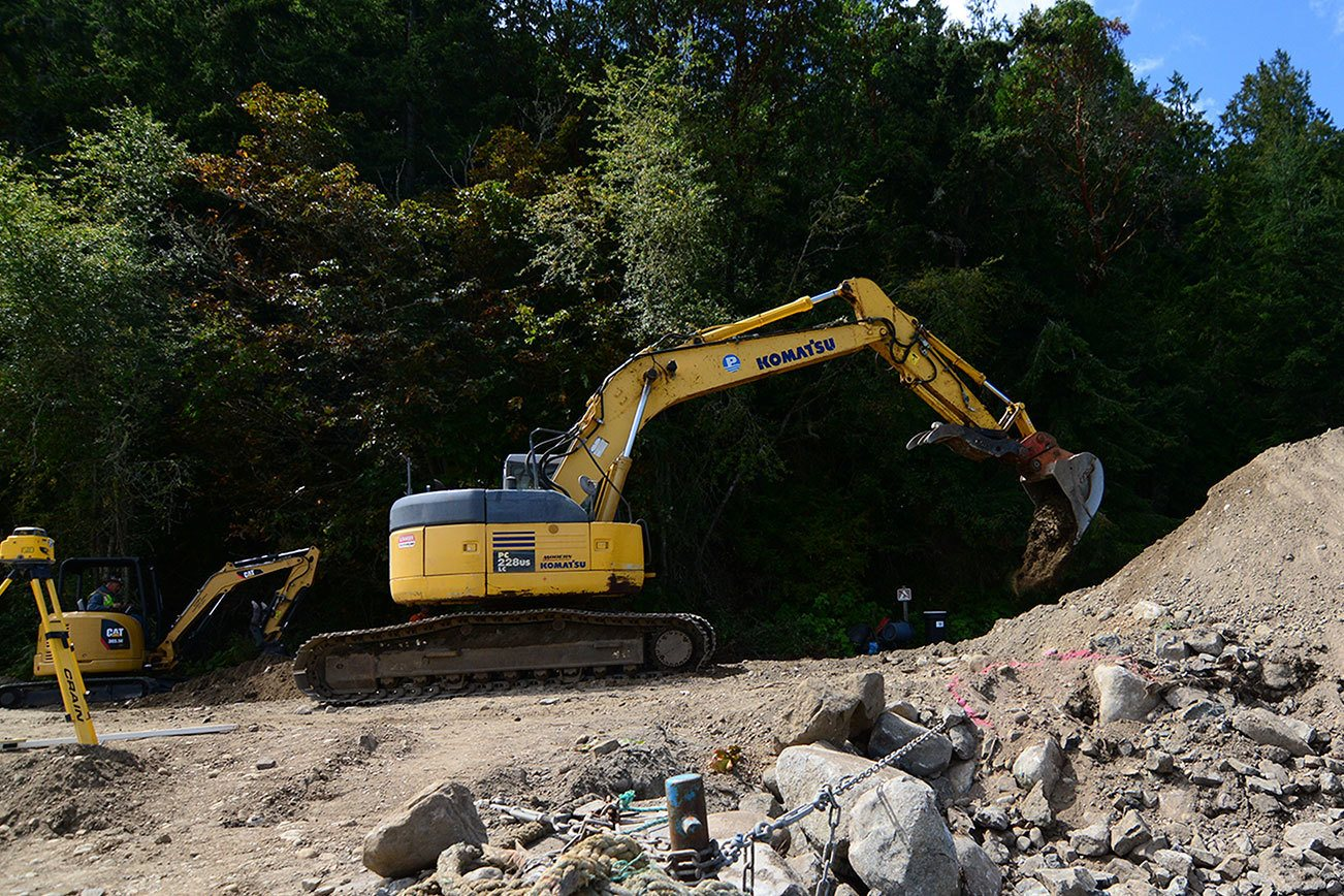 Shoreline restoration project at Fort Townsend nears completion