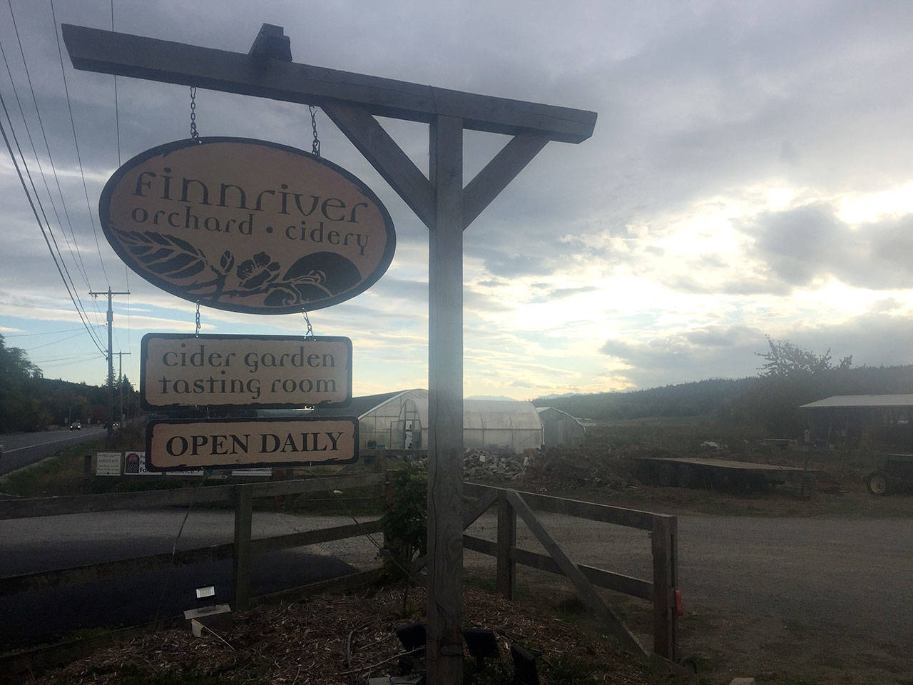 Finnriver Cidery, orchards and a number of other local organizations work on 50 acres of protected farmland. (Cydney McFarland/Peninsula Daily News)