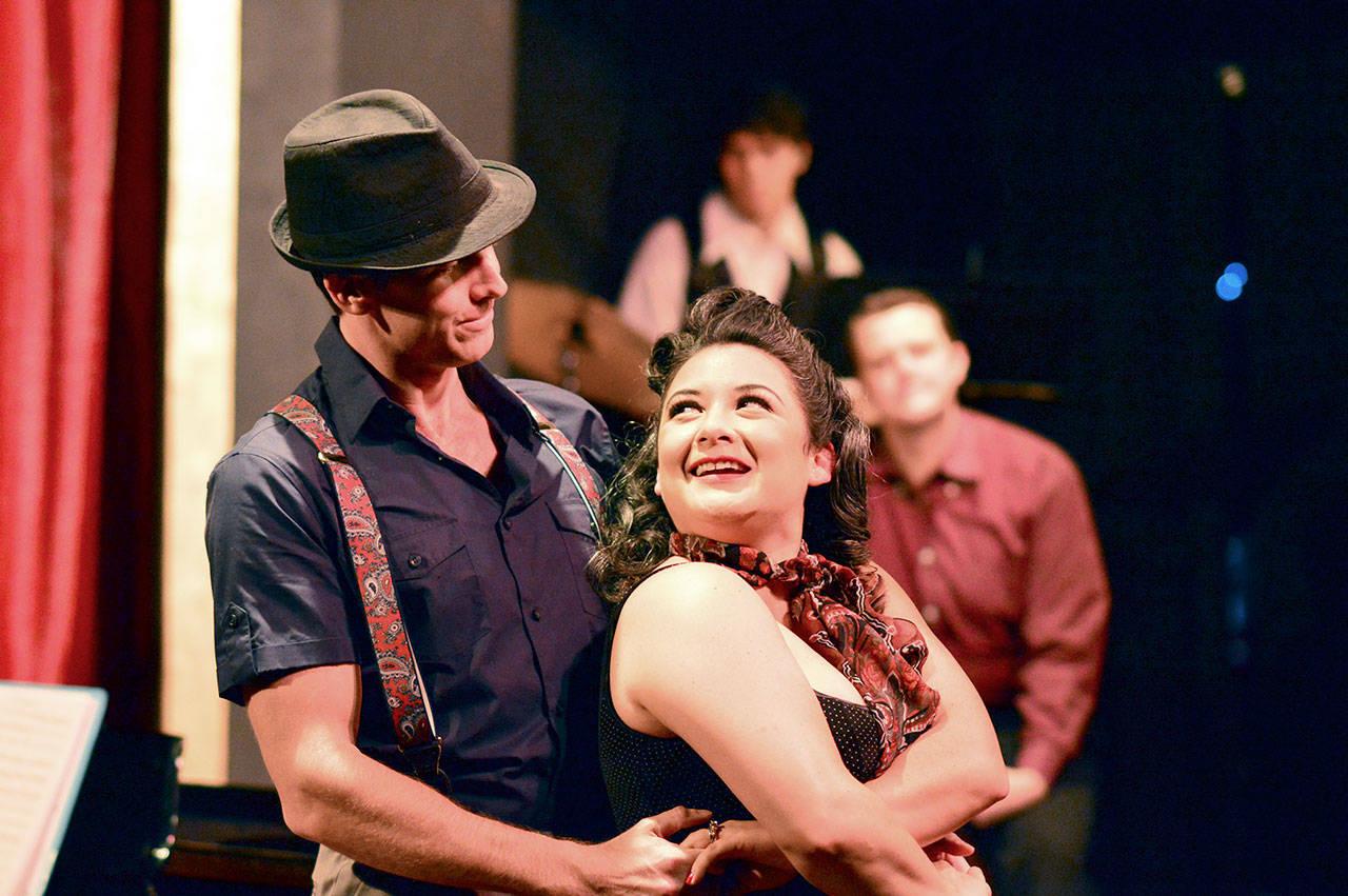 Matthew Alexander and Christa Holbrook dance their way through the Cole Porter cabaret at Port Townsend's Key City Playhouse. (Diane Urbani de la Paz)