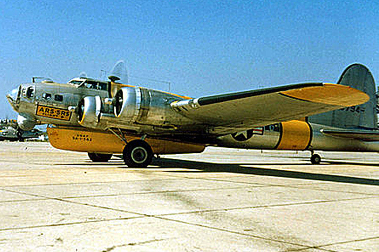 National Museum of the U.S. Air Force A Boeing SB-17G configured with an A-1 Higgins Lifeboat, circa 1950.