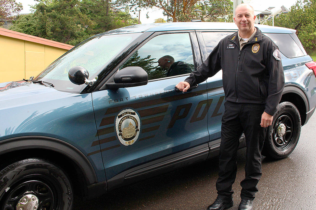Port Townsend Police Chief Thomas Olson started work last week. Some of his goals include getting the department more involved with the community and increasing the diversity among officers. (Zach Jablonski/Peninsula Daily News)
