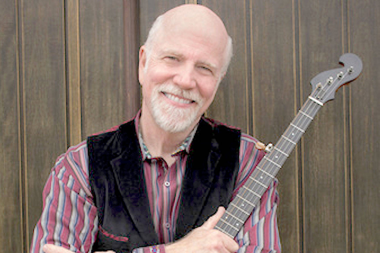 Folksinger John McCutcheon will give a live concert Sunday on the streaming platform Mandolin to benefit community radio stations including KPTZ-FM 91.9. (Photo by Irene Young)