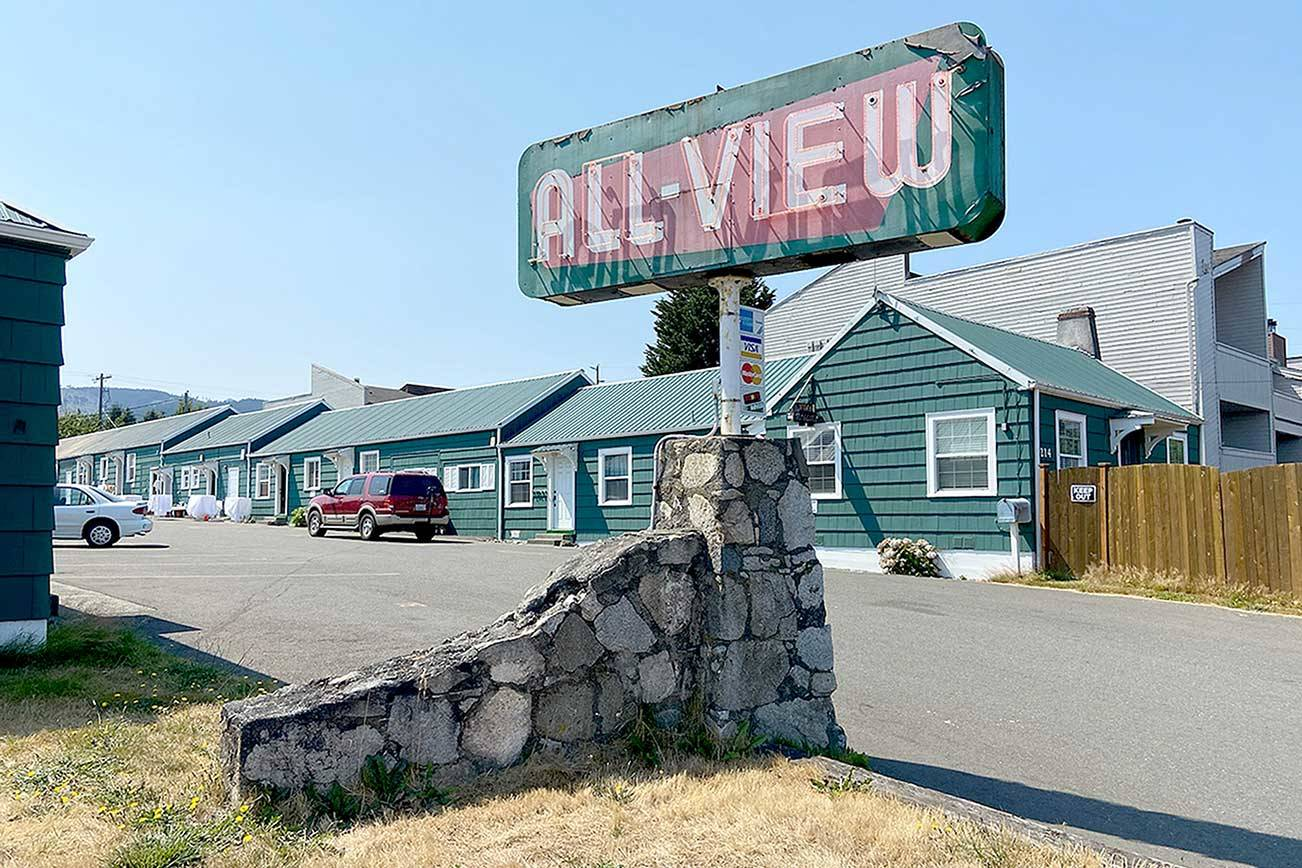 The All View Motel in Port Angeles may be renovated under a plan by Peninsula Behavioral Health and turned into 27 units of low-income housing. (Rob Ollikainen/Peninsula Daily News)